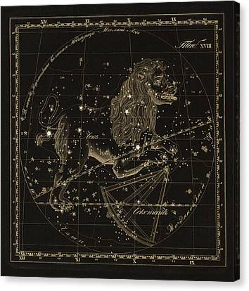 Leo Constellations, 1829 Canvas Print by Science Photo Library