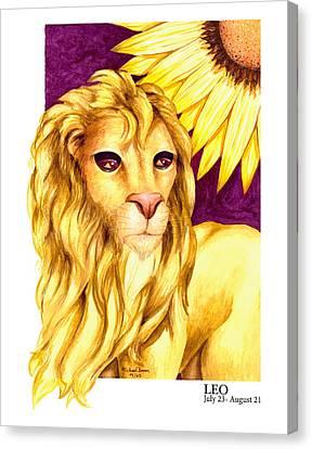 Leo Canvas Print by Michael Baum