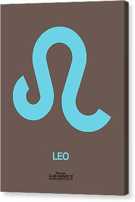 Leo Zodiac Sign Blue Canvas Print by Naxart Studio