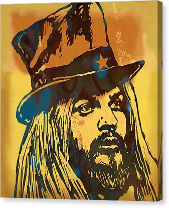 Leon Ressell Stylised Modern Pop Art Sketch Poster Canvas Print by Kim Wang
