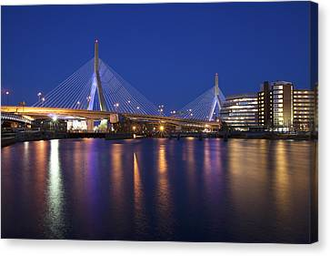 Leonard P Zakim Bridge Canvas Print by Eric Gendron