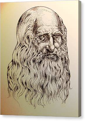 Leonardo Da Vinci Canvas Print by Derrick Higgins