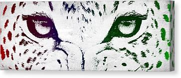 Leopard Eyes Canvas Print by Aged Pixel