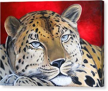 Leopardo Canvas Print by Angel Ortiz