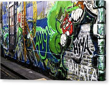 Leprechaun Graffiti Canvas Print by John Rizzuto
