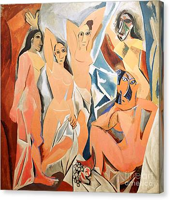 Les Demoiselles D'avignon Picasso Canvas Print by RicardMN Photography