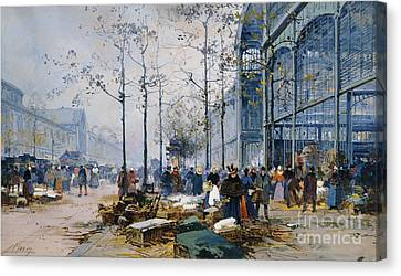 Les Halles Paris Canvas Print by Jacques Lieven