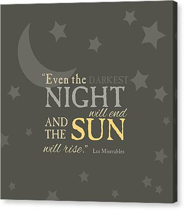 Les Mis Quote Canvas Print by Nancy Ingersoll
