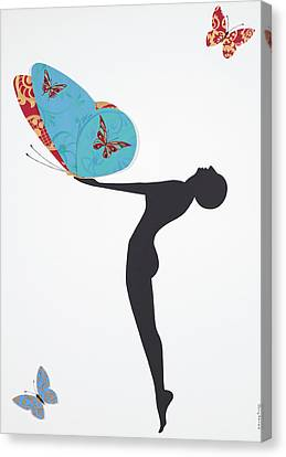 Les Papillons, 2008 Canvas Print by Jenny Barnard