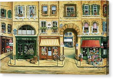 Les Rues De Paris Canvas Print by Marilyn Dunlap