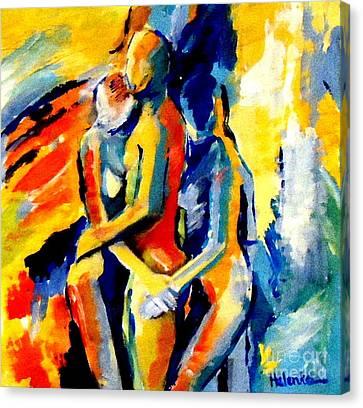 Les Silhouettes Canvas Print by Helena Wierzbicki