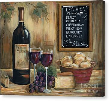 Les Vins Canvas Print by Marilyn Dunlap