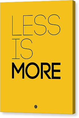 Less Is More Poster Yellow Canvas Print by Naxart Studio