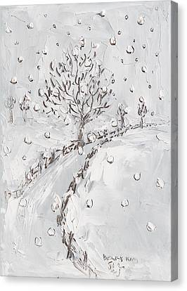 Let It Snow Canvas Print by Becky Kim