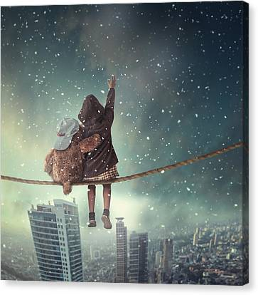 Let It Snow Canvas Print by Hardibudi