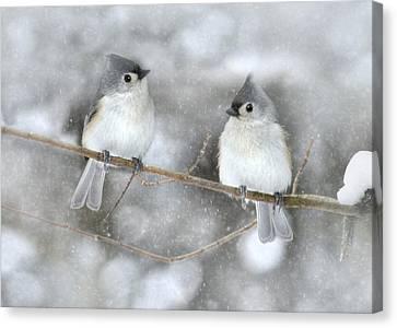Let It Snow Canvas Print by Lori Deiter