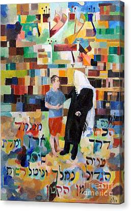 Let Us Make Man  Canvas Print by David Baruch Wolk