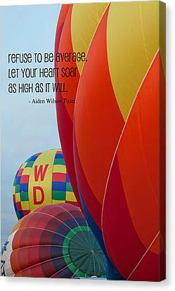 Let Your Heart Soar Canvas Print by Bonnie Bruno