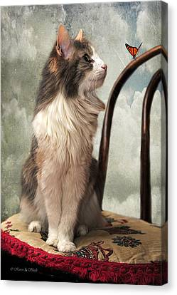 Let's Be Friends Canvas Print by Karen Slagle