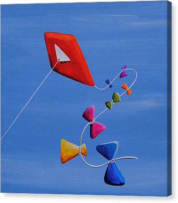 Let's Go Fly A Kite Canvas Print by Cindy Thornton