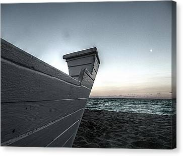 Let's Sail To The Moon Canvas Print by Richard Reeve