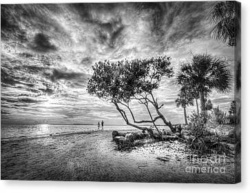Let's Stay Here Forever Bw Canvas Print by Marvin Spates