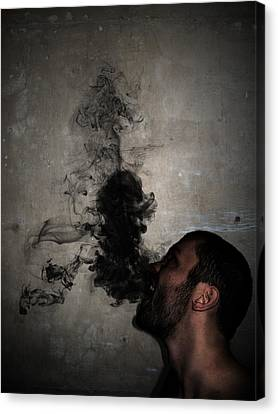 Letting The Darkness Out Canvas Print by Nicklas Gustafsson