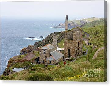 Levant Mine And Beam Engine Canvas Print by Terri Waters