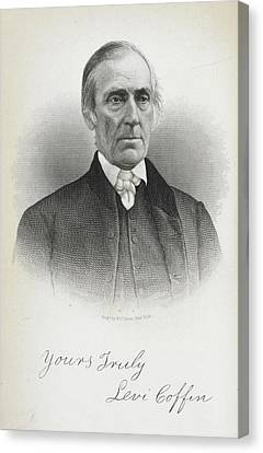 Levi Coffin Canvas Print by British Library