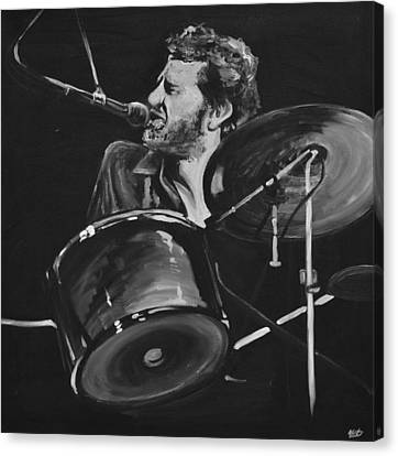 Levon Helm At Drums Canvas Print by Melissa O'Brien