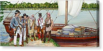 Lewis And Clark Canvas Print by Beth Gramith