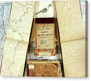 Lewis And Clark Expedition Journals Canvas Print by American Philosophical Society