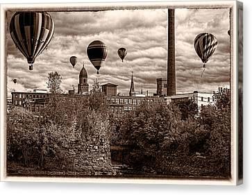 Lewiston Maine Hot Air Balloons Canvas Print by Bob Orsillo