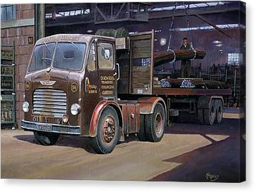 Leyland Beaver Artic. Canvas Print by Mike  Jeffries