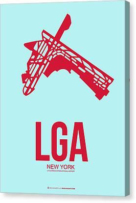 Lga New York Airport 2 Canvas Print by Naxart Studio