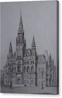 Liberec Town Hall Canvas Print by Arturas Patamsis
