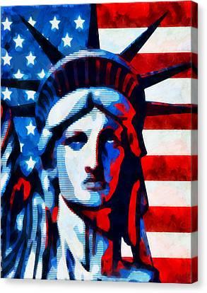 Liberty 2 Canvas Print by Angelina Vick