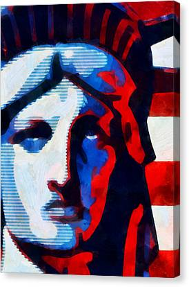 Liberty 3 Canvas Print by Angelina Vick