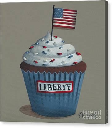 Liberty Cupcake Canvas Print by Catherine Holman