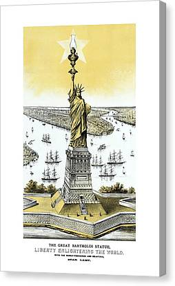 Liberty Enlightening The World  Canvas Print by War Is Hell Store