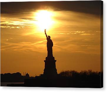 Liberty Flame Canvas Print by John Synnott