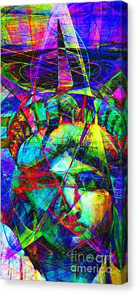 Liberty Head Abstract 20130618 Long Canvas Print by Wingsdomain Art and Photography