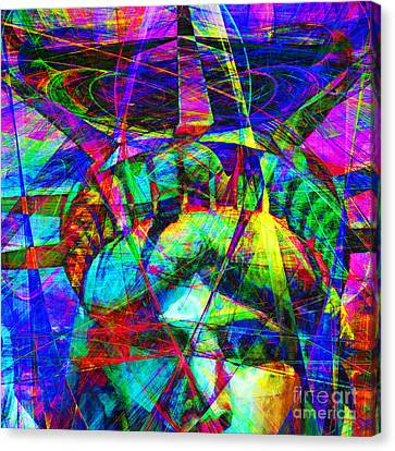 Liberty Head Abstract 20130618 Square Canvas Print by Wingsdomain Art and Photography