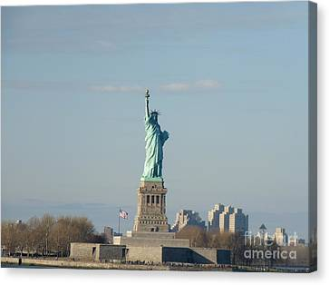 Liberty Herself Canvas Print by Julie Koretz