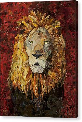 Liberty Lion Canvas Print by Claire Muller