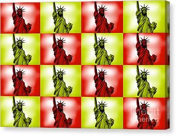 Liberty Pop Art Canvas Print by Az Jackson