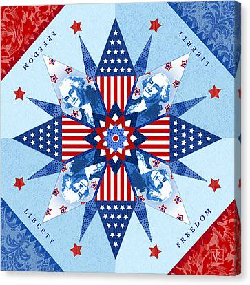Liberty Quilt Canvas Print by Valerie Drake Lesiak