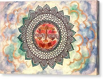 Libra Canvas Print by Jennie Hallbrown