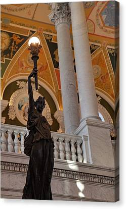 Library Of Congress - Washington Dc - 011311 Canvas Print by DC Photographer