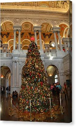 Library Of Congress - Washington Dc - 011312 Canvas Print by DC Photographer